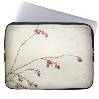 Sleeve Para Laptop O ramo de árvore da ameixa com primavera brota |