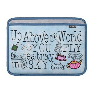 Sleeve Para MacBook Air Alice em citações lunáticas de Carroll do chá do