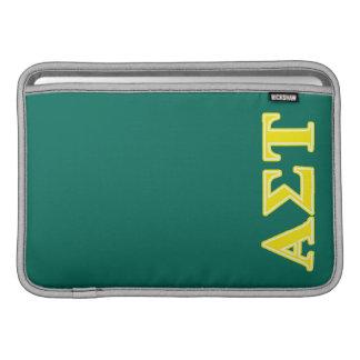 Sleeve Para MacBook Air Letras amarelas da tau do Sigma alfa