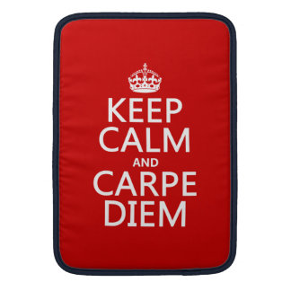 Sleeve Para MacBook Air Mantenha a calma e o Carpe Diem