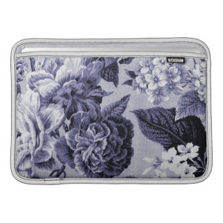 Sleeve Para MacBook Air Mulberry Toile floral roxo azul No.1