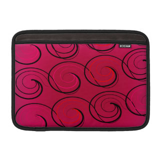 Sleeve Para MacBook Air O abstrato roda na magenta