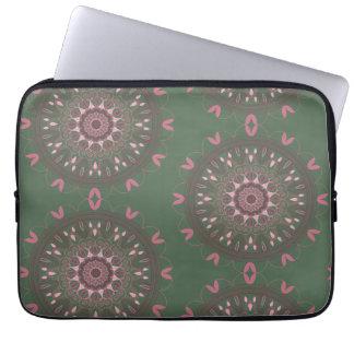 Sleeve Para Notebook Azeitona ornamentado da mandala de Boho