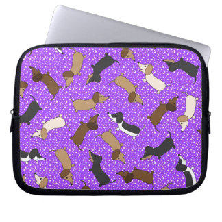 Sleeve Para Notebook Dachshunds da dança (roxos)