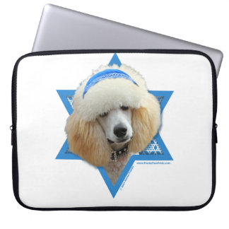 Sleeve Para Notebook Estrela de David de Hanukkah - caniche - abricó