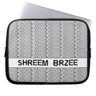 Sleeve Para Notebook Mantra branca do dinheiro de Shreem Brzee do canto