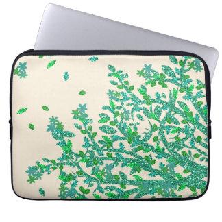 Sleeve Para Notebook Ramo de árvore floral verde