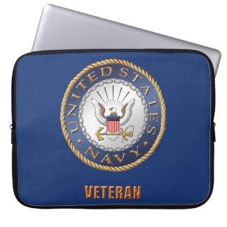 Sleeve Para Notebook U.S. Saco dos eletrônicos do veterano do marinho