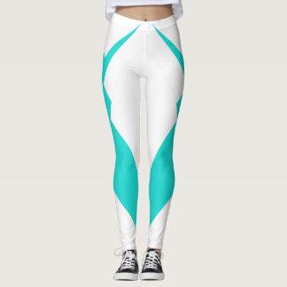Slimming a forma desportiva de turquesa das calças leggings