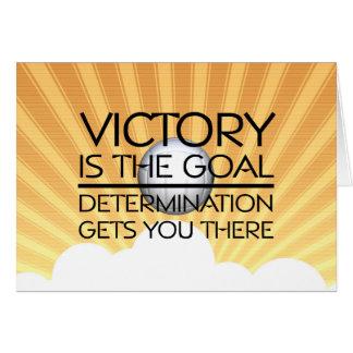 Slogan SUPERIOR da vitória do voleibol Cartão