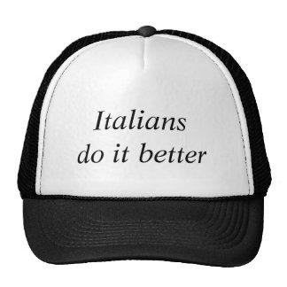 Slogans italianos da forma do comprar dos italiano boné