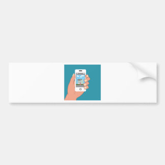 Smartphone à disposição com imagem da casa adesivo para carro