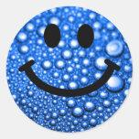 Smiley das gotas de água adesivos