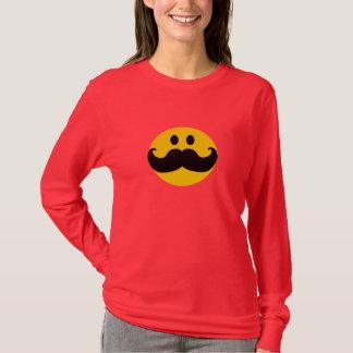 Smiley do bigode camiseta