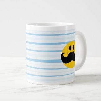 Smiley do bigode jumbo mug