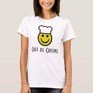 Smiley do cozinheiro chefe camiseta