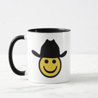 Smiley do vaqueiro caneca