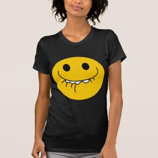 Smiley face amarelo de riso suprimido camiseta