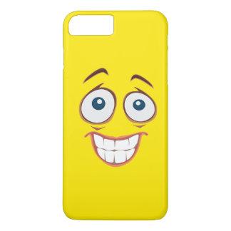 Smiley face amarelo de sorriso embaraçado capa iPhone 8 plus/7 plus