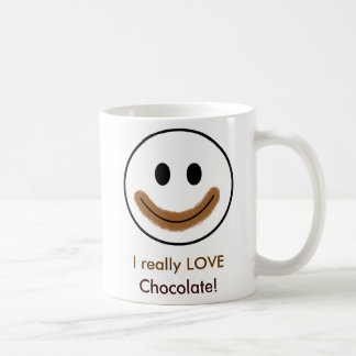 "Smiley face do chocolate ""eu AMO realmente o Caneca De Café"