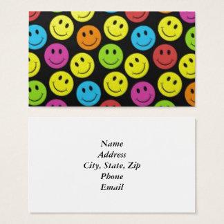 Smiley face doce cartão de visitas