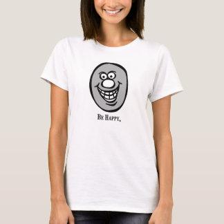 Smiley face (esteja feliz) *Gray Camisetas