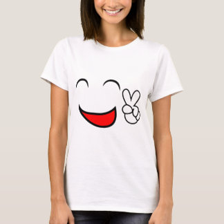 Smiley face feliz da paz t-shirts