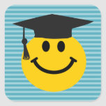 Smiley face graduado adesivo quadrado