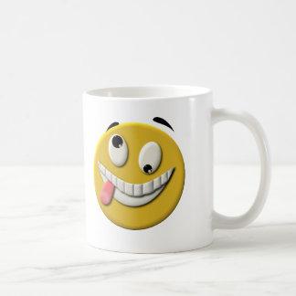 Smiley face louco caneca de café