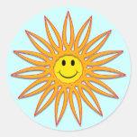 Smiley face Sun Adesivos