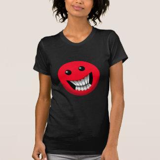 smiley face vermelho camisetas