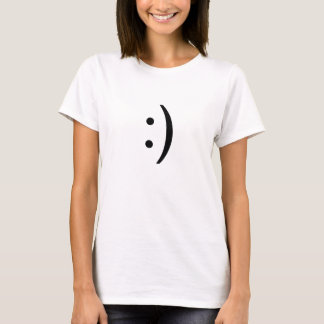 smiley lateral do texto t-shirt