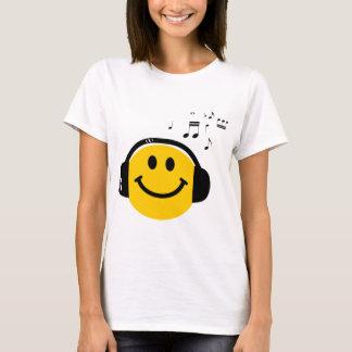 Smiley loving da música t-shirt