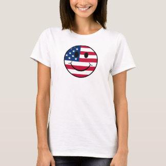Smiley patriótico tshirts