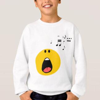Smiley que canta seu pouco coração para fora camisetas