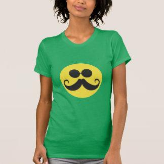 Smiley Stache Camiseta
