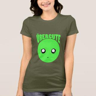 Smiley verde bonito de Über Camiseta