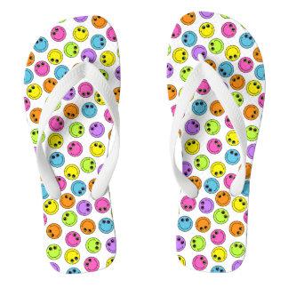 Smileys face coloridos chinelos