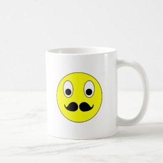 Smilie bigode smiley moustache mustache canecas