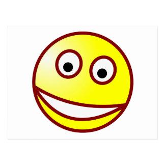 Smilie riso debochado smiley grin cartoes postais