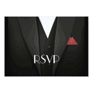 Smoking RSVP Convite 12.7 X 17.78cm