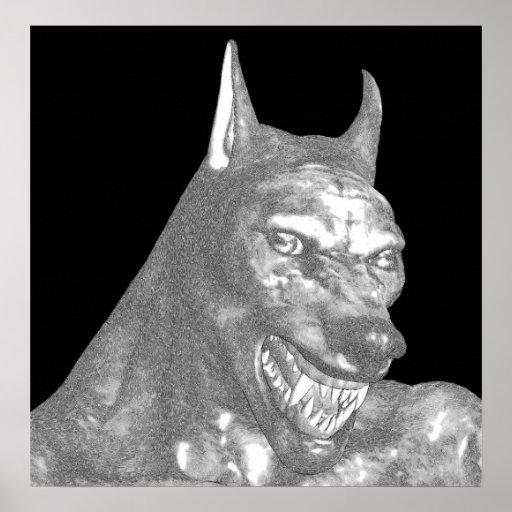 Snarl do homem-lobo posters