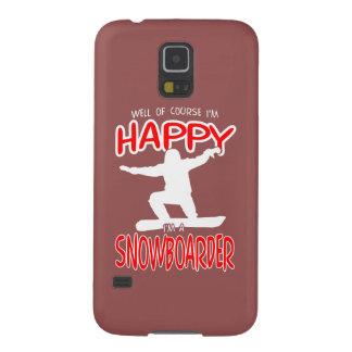 SNOWBOARDER FELIZ no BRANCO Capinhas Galaxy S5
