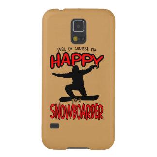 SNOWBOARDER feliz (preto) Capas Par Galaxy S5