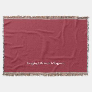 Snuggling é a cobertura secreta do lance para throw blanket