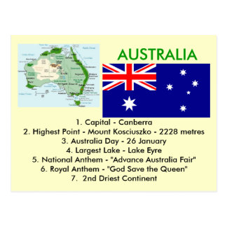 Sobre Austrália Cartão Postal