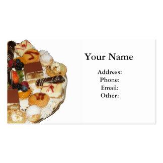 Sobremesas doces cartão de visita
