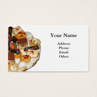 Sobremesas doces cartão de visitas