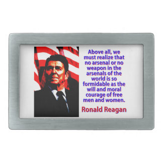 Sobretudo nós devemos realizar - Ronald Reagan