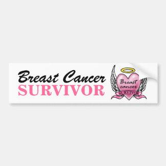 Sobrevivente cor-de-rosa do coração adesivo para carro